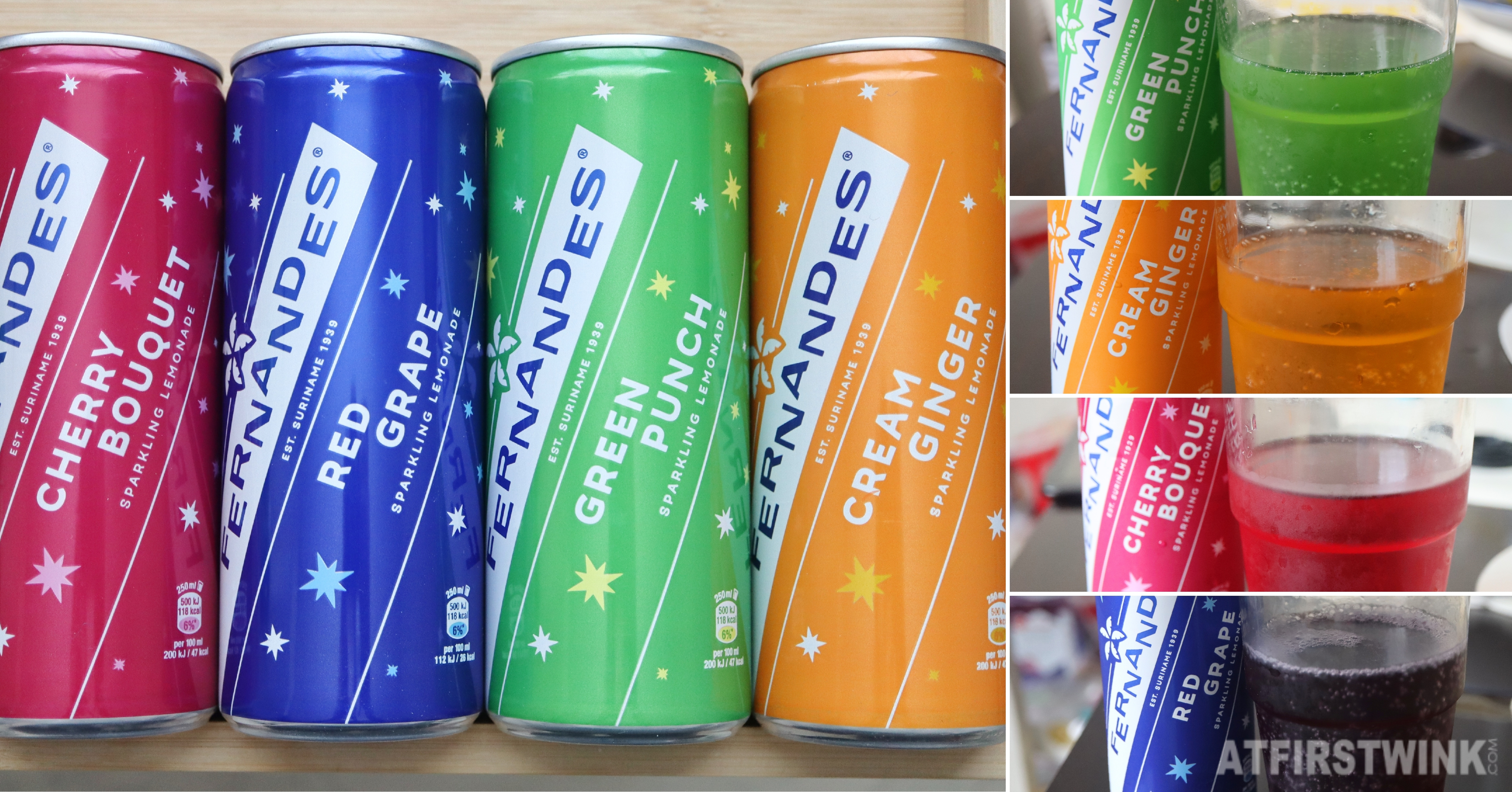 Review Fernandes soda cherry bouquet, green punch, red grape, and cream ginger