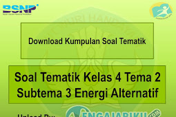 Soal Tematik Kelas 4 Tema 2 Subtema 3 Energi Alternatif