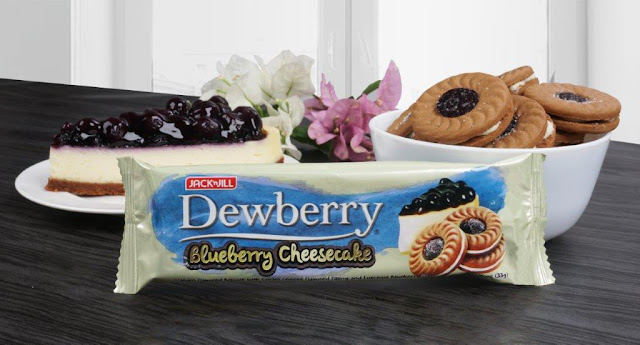 Jack 'n Jill Dewberry's Blueberry Cheesecake