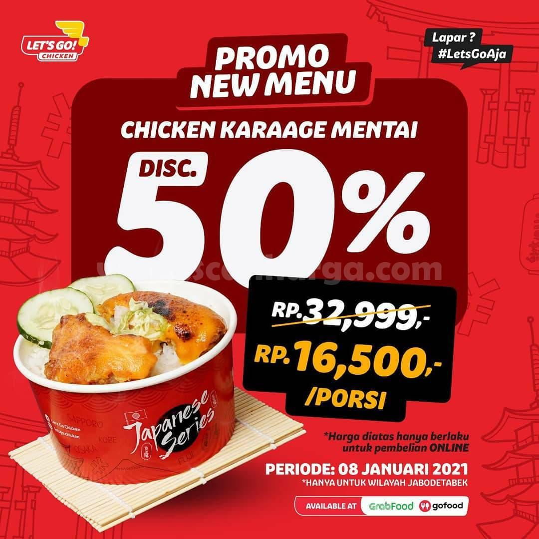 Let's Go Chicken Promo Diskon 50% untuk Chicken Karaage Mentai