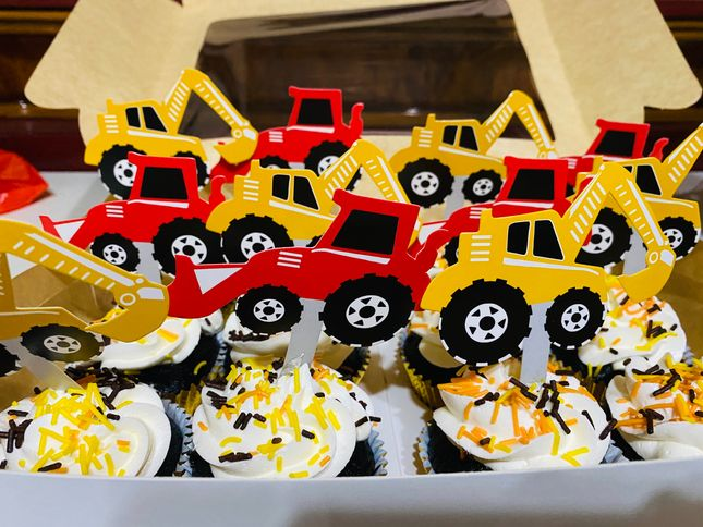 Construction-themed cupcakes made by Drizzles Bakeshop & Café for our kiddie birthday party at home