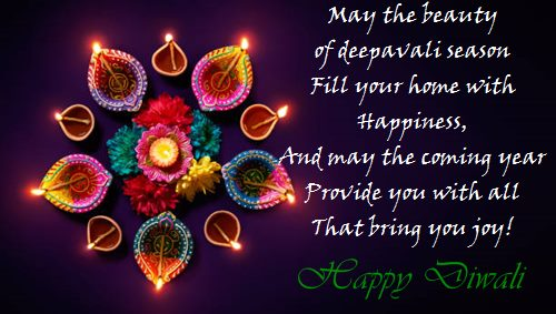 Diwali Greetings with Wishes