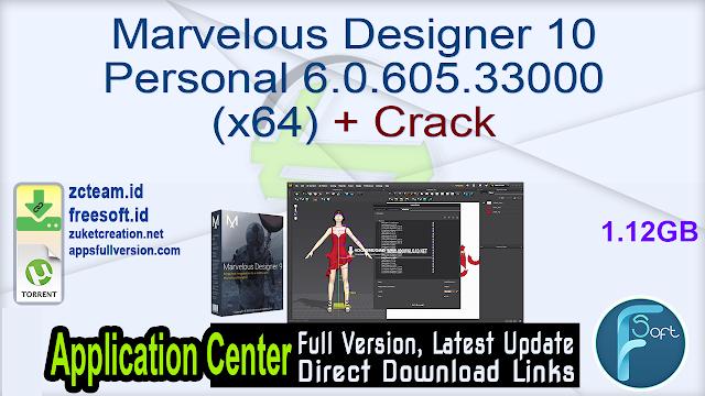 Marvelous Designer 10 Personal 6.0.605.33000 (x64) + Crack_ ZcTeam.id