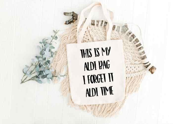 Reusable Shopping Bag SVG File (Aldi Grocery Store Bag)