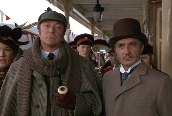 "Michael Caine and Ben Kingsley in ""Without a Clue"""
