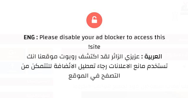 افضل سكربت مانع الاد بلوك لمدونات بلوجر لزيادة ارباحك من ادسنس