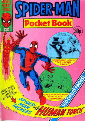 Spider-Man pocket book #9, the Human Torch