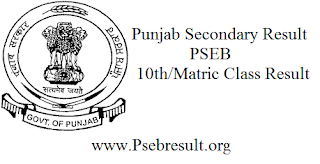 PSEB 10th/Matric Class Results 2016