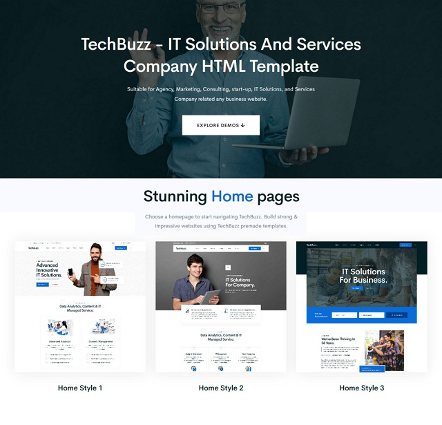 Technology IT Solutions & Services Template