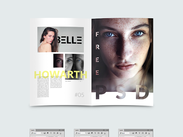 Download Magazine Template PSD Free