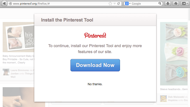 Malicious Pinterest browser plugin stealing passwords and spreading spam