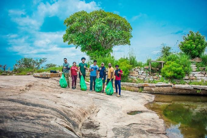 Huliyurdurga & Malleswara betta on Independence Day plastic cleanup
