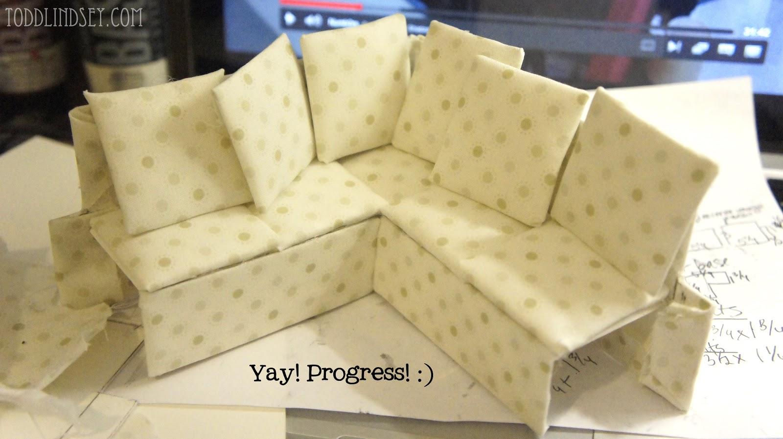 dollhouse miniature sectional sofa cushion set online domer home diy
