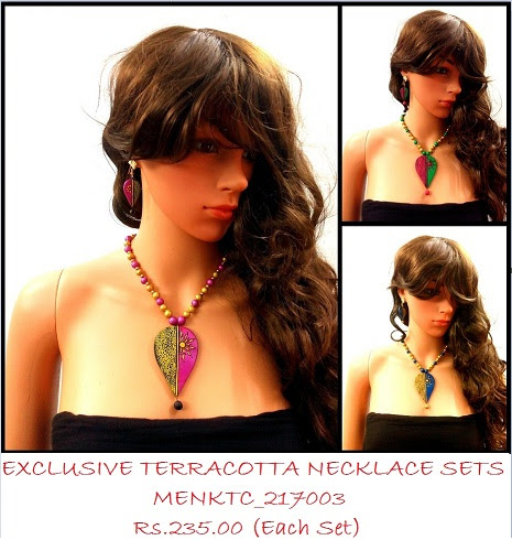 Handmade Terracotta Necklace sets has tribal flavor of the products very enchanting