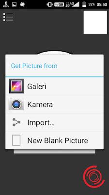 2. Kemudian pilih ingin menambahkan gambar dan foto atau menggunakan blank picture