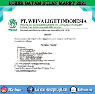 Lowongan Kerja PT. Weina Light Indonesia