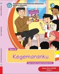 Buku tema 2 Guru kelas 1 k13 2017