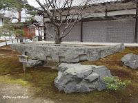 Temple and stone boat, Kinkaku-ji Garden - Kyoto, Japan