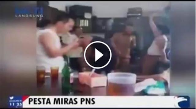 Video PNS Pesta Miras Diiringi House Musik Sangat Memalukan!