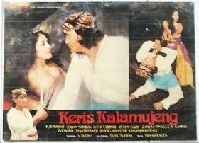 """Poster film """" KERIS KALAMUJENG"""" bintang Tuti Wasiat , Johan Saimima, Avent Christie, Benny Gaok, Lina Budiarti dll."""