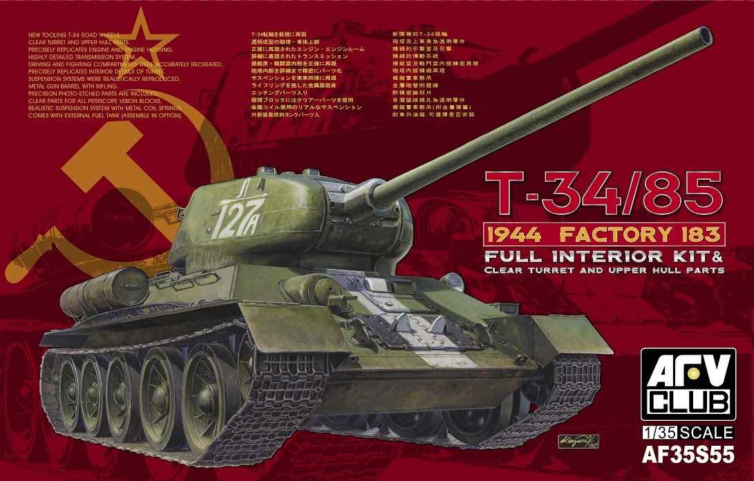 the modelling news afv club s latest t 34 85 183 clears the