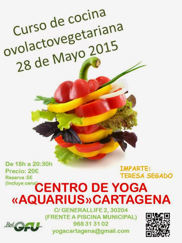 Centro de yoga aquarius curso de cocina 28 de mayo 2015 for Cursos de cocina en badajoz