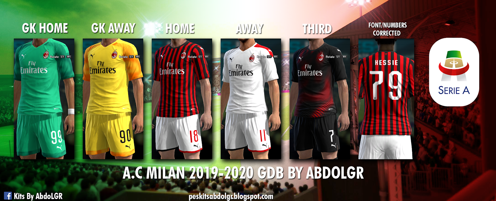 buy popular d0370 fb2cf PES 2013 AC Milan 2019/20 kits by AbdoLGR - Minosta4u