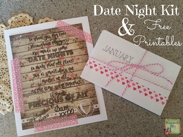 Valentines Date Night Kit & FREE Printable. |www.raggedy-bits.com