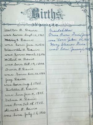 Births in the Walter Davis Bible https://jollettetc.blogspot.com