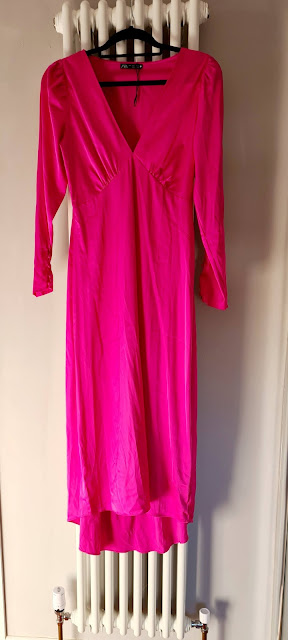 Zara fuschia pink satin maxi dress