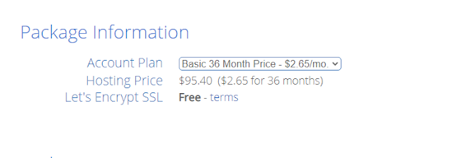 bluehost 36 month hosting price