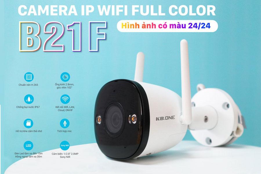 camera wifi Kbone KN-B21F ban đêm có màu
