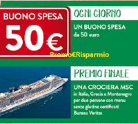Logo Buitoni #AlGustoNonRinuncio : vinci buoni spesa da 50€ e 1 crociera MSC