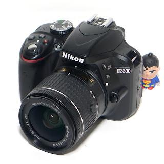 Kamera Bekas Nikon D3300 Lensa VR Mulus