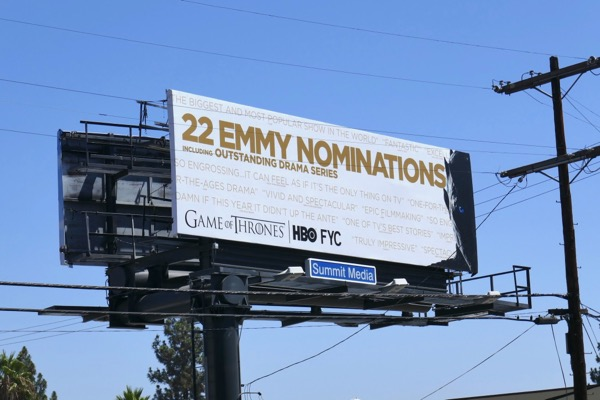 Game of Thrones 2018 Emmy nominee billboard
