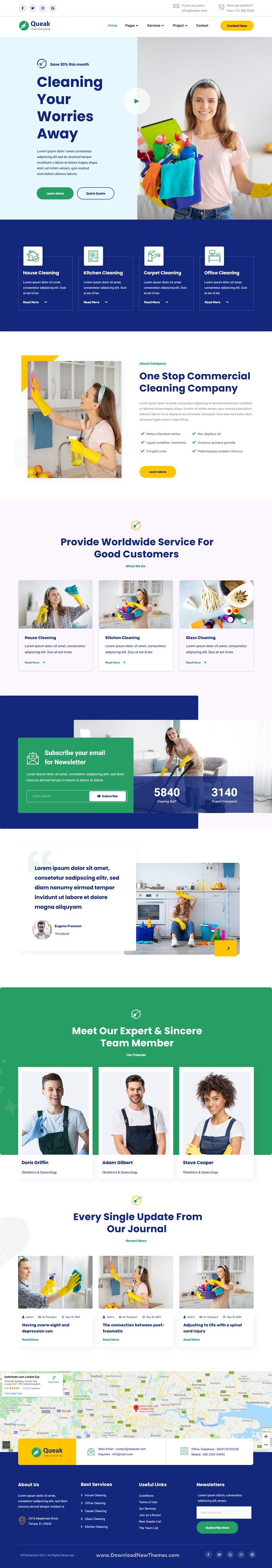 Cleaning Service Elementor Template Kit