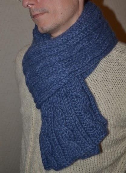 1d42c2e40996 Comment tricoter une jolie écharpe d hiver pour homme   - Des ...
