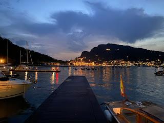 View from Locanda Lorena (Palmaria) to Porto Venere - evening