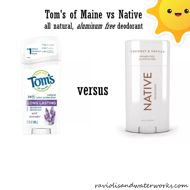 aluminum free deodorant; tom's of maine review; native review; best aluminum free deodorant; natural deodorant; best natural deodorant; natural deodorant review