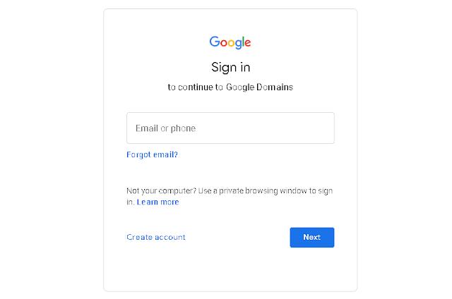 Google Domain Login
