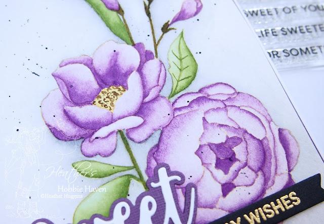 Heather's Hobbie Haven - No-Line Watercolor│My Favorite Things - Fresh Cut Flowers
