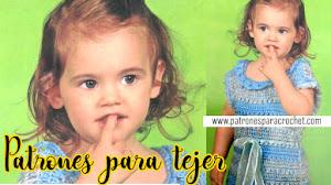 Patrones de Vestido Crochet para Nena de 2 Años / Paso a paso