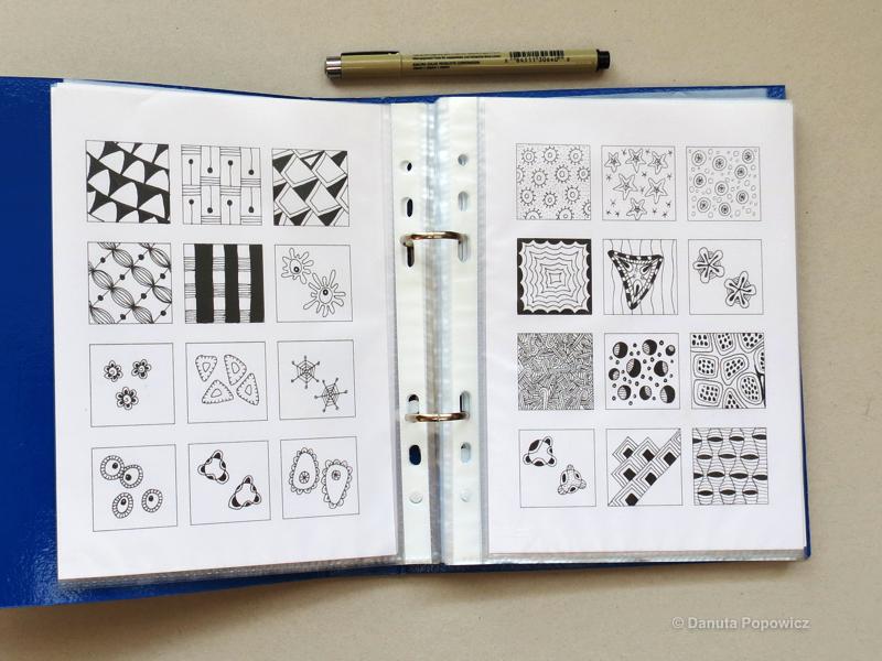 katalog wzorów Zentangle