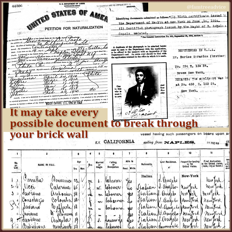 Just like it takes many bricks to make a wall, it takes many facts and documents to tear down that wall.