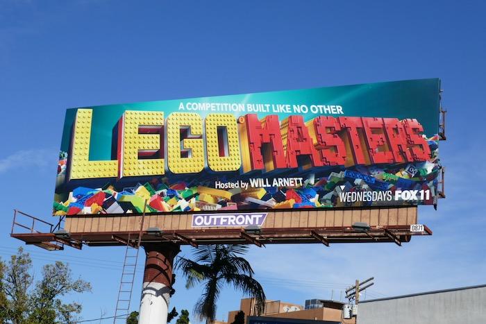 Lego Masters series premiere billboard