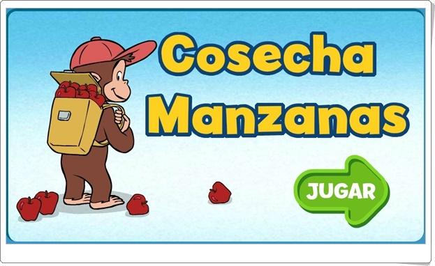 """Curious George: """"Cosecha manzanas"""" (Juego de secuencia de números del 0 al 9)"""
