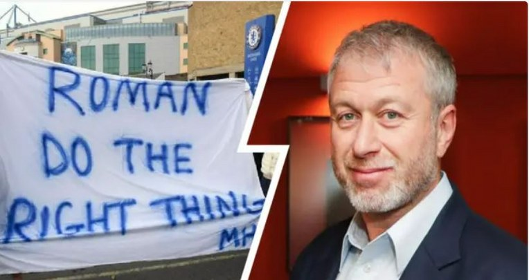Passionate Chelsea fans calls for Abramovich apology