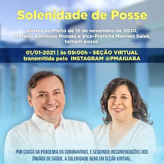 AIUABA : Prefeito Ramilsom Moraes e a Vice Prefeita Marinez Sales, tomam posse nesta sexta feira (1)