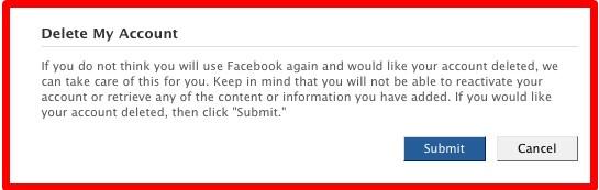best way to delete your facebook account
