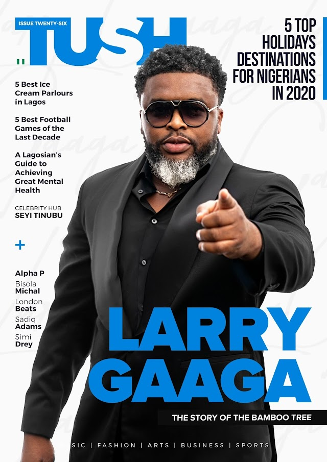 GIST: Larry Gaaga Covers 26th Issue of Tush Magazine